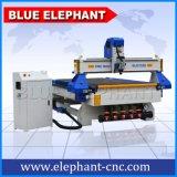 CNC de alimentação fácil de 3 linhas centrais de Ele 1325 máquina de madeira do router, máquina de estaca da madeira do CNC 1325 para gabinetes