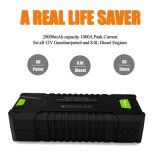 20000mAh Portable Jump Starter behandelt Lithium Batterie Booster