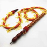 boyau rouge de Shisha de narguilé de dragon de 1.8m avec l'embouchure en bois (ES-HH-013-3)