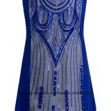 Frauen-Sequined Nixe-Sleeveless reizvolles Abend-Partei-Abschlussball-Kleid