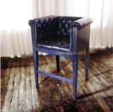 ([كل-4401]) أثر قديم خشبيّة عادية جلد قضيب كرسي تثبيت لأنّ مطعم فندق ناد