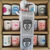 El club de deporte imprimió trapos del tocador del anuncio del papel higiénico