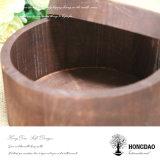 Corteza de árbol redonda de encargo de Hongdao o caja de embalaje Wholesale_D de la torta de madera
