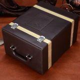 Nuevo estilo de cuero de PU seis botellas de vino, vino de gran calidad de la caja caja de regalo