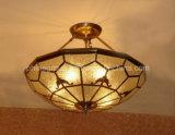 Kupferne Decken-Lampe mit der dekorativen 19006 Decken-Glasbeleuchtung