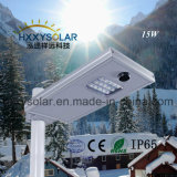 luz de calle solar integrada del sensor de movimiento 15W IP65 LED