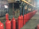 La Chine lutte contre les incendies les bouteilles de gaz CO2