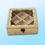 최신 판매에 의하여 주문을 받아서 만들어지는 포도 수확 나무로 되는 전시 상자