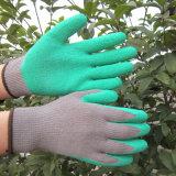 Il lattice dei guanti del cotone ha tuffato il guanto del lavoro di sicurezza dei guanti del giardino