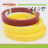 Différents types de bandes de bord réalisées via PVC