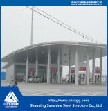 La estructura de acero prefabricada vertió para la gasolinera