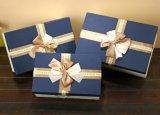 Boîte à cadeaux en chocolat rectangulaire élégante et élégante avec bon bowknot, boîte à emballage cadeau