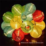 De zonne Chinese Lichten van het Koord van de Tuin van de Lantaarn 10LED (RS1012)