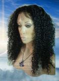 Jungfrau-indisches Menschenhaar Front Lace Wig Auf Lager, Menschenhaar 100%