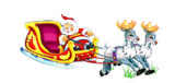 Twin Reindeers with Santa Claus (L-004)