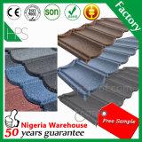 Hersteller-natürlicher Sand-Stein-überzogene Metalldach-Fliese Guang-Zhou
