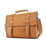 Os homens de boa qualidade artesanal Design bolsas de couro bege Messenger
