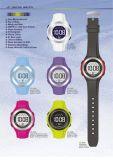 경보 (JC)를 가진 남녀 공통 디지털 시계 100m 물 저항하는 전자 스포츠 고무 신사 디지털 시계