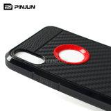Cubierta del teléfono móvil de la fibra TPU del carbón para el caso del iPhone X