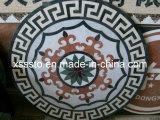 Forma redonda grande mosaico artístico piso de cerâmica e Decoração de parede