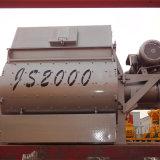 (JS2000) Nuevo tipo mezclador concreto obligatorio, mezclador concreto del eje gemelo