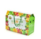 Les marchandises dans la boîte fraîche en gros courante à fruit de papier ondulé de main, cadre d'Apple de réveillon de Noël, personnalisent la caisse d'emballage de fruit de 8-10 Jin