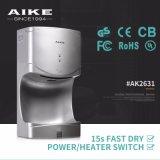Dessiccateur électrique de main de salle de bains d'essuie-main de gicleur d'appareils d'hôtel (AK2631)