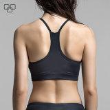 Schwarze Breathable Sommer-Großhandelsfrauen aufgefüllter Sport-Büstenhalter