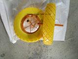 공장 3.50-8 편평한 자유로운 PU 거품 트롤리 바퀴