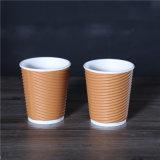 싼 가격 처분할 수 있는 잔물결 벽 종이 커피 잔