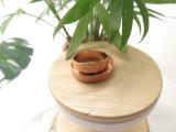 Eenvoudige de Boutique van de Grootte van de douane nam Goud Stapelend Dubbele Ringen toe