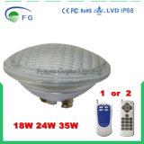 RGBおよびSingeカラートップセラーIP68はLED PAR56の水中プールライトを防水する