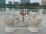 PE плетеной алюминиевая рама сад набор таблицы Cooffee садовой мебелью