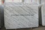 床タイル、Countertop&Vanityの上のための雲の白または広XIの白の大理石の平板