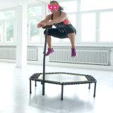 Trampolines de salto do hexágono da aptidão do esporte de Springfree com barra do punho