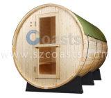 2-6 sauna tradicional da madeira do cedro do cedro vermelho da sauna do tambor da pessoa