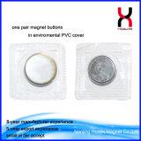 Bouton magnétique recouvert de PVC pour les vêtements