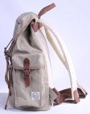 Stile durevole dell'annata del tessuto della tela di canapa incerato sacchetto dello zaino di corsa