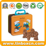 Custom hermética metálica cuadrada Caja de almacenamiento de alimentos enlatados de Chocolate caliente