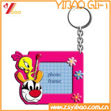 PVC macio quente Keychain do OEM 3D das vendas com mini frame da foto para o presente da promoção