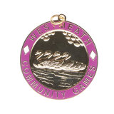 Medaglia d'argento di maratona di sport su ordinazione del metallo