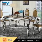 Stahlmöbel-Bein-Marmortisch-Esszimmer-Tisch-Abendtisch