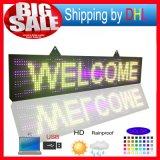 L'Afficheur LED polychrome extérieur Programmablefor DEL de P10 RVB signe la table des messages de signe de défilement de pouce DEL de la taille 14X65