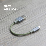 Portable trenzado de 15cm Cable USB para iPhone/iPad/iPod, carga rápida