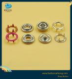 Ring-Zinke-Verschluss-Taste für Baby-Tücher angestrichene Form