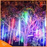 360 [لدس] نيزك مطر أنابيب شجرة زخرفيّة شمسيّة خيم ضوء