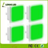 Grüne Dämmerung, zum zu dämmern Nachtlicht des Tageslicht-0.3W des Fühler-LED