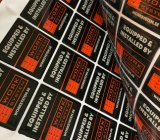 Resina epoxy da promoção barata feita sob encomenda do logotipo da cópia que anuncia a etiqueta da etiqueta