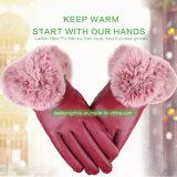 De hete Handschoenen van de Dames Pu van de Manier van de Verkoop met Gemiddelde Grootte Autumn&Winter