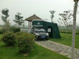 Im Freien kampierendes Auto-Dach-Zelt mit Faser-Glas-Shell